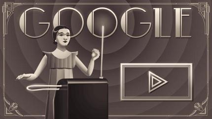 クララ・ロックモア生誕 105 周年 - Doodle-1