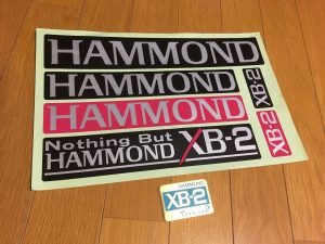HAMMOND XB-2 sticker