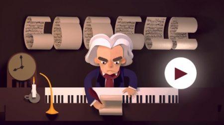 ルートヴィヒ・ヴァン・ベートーヴェン生誕 245 周年 - Doodle