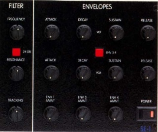 STUDIO ELECTRONICS SE-1(FILTER/ENVELOPES)