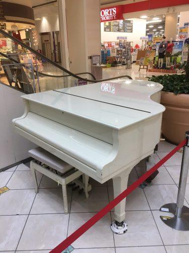 白いグランドピアノ @イオンモール東浦