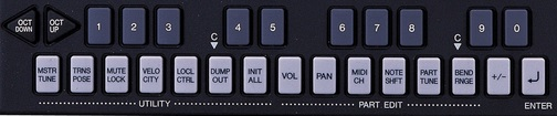 YAMAHA MU5 (key-button)