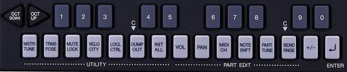 YAMAHA MU5 (key-button)