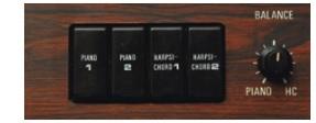 YAMAHA CP-30 panel(tone select)
