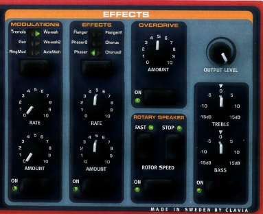CLAVIA Nord Electro(Effects Section)
