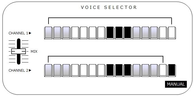 YAMAHA CS15D(VOICE SELECTOR)